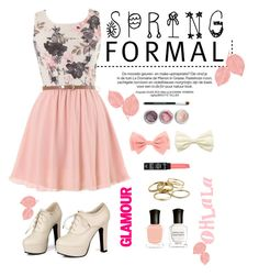 """Spring formal"" by melliflusous ❤ liked on Polyvore featuring Bare Escentuals, Sidewalk, NYX, Kendra Scott and Deborah Lippmann"