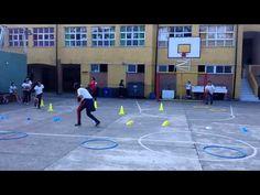 Educacion Física Circuito Basquetbol 01 - YouTube