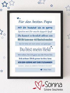 Für den besten Papa *** PDF zum Selberausdrucken von Sonna * Schöne Geschenke* auf DaWanda.com
