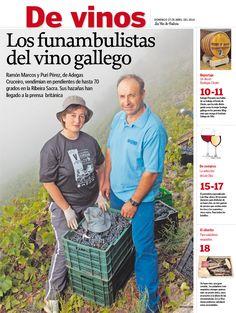 Puri e Ramón, los trapecistas de la Ribeira Sacra Adega Cruceiro