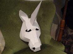 DIY Halloween mask, Unicorn mask, Halloween mask, horse head mask, animal mask