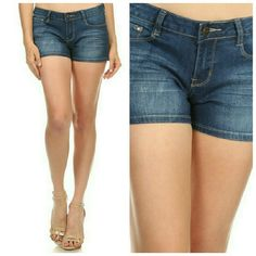 Claire Denim Shorts Coming soon! faded wash , denim jean shorts with button closure and pockets Majestii Shorts Jean Shorts