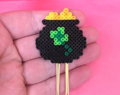 Pot of Gold Planner Clip | Magnet | Planner Clips | Magnet | Mini Perler Beads | Paper Clip | Bookmark | Page Marker | St.Patrick's Day |