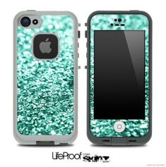 Tiffany Green Glimmer Skin for the iPhone 4/4s or 5 LifeProof Case on Etsy, | http://iphonecasegallery.lemoncoin.org