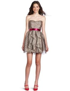Teeze Me Juniors Organza Tube Dress   #dress #homecomingdress #tubedress