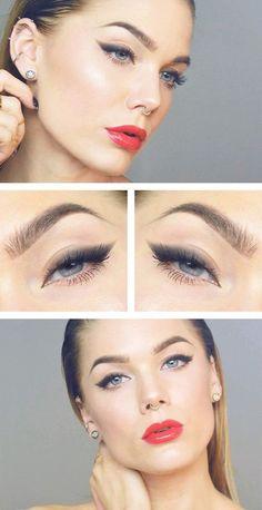 new Ideas makeup everyday eyeliner linda hallberg Pretty Makeup, Simple Makeup, Natural Makeup, Unique Makeup, Cheap Makeup, Linda Hallberg, Make Up Looks, Makeup Goals, Makeup Tips