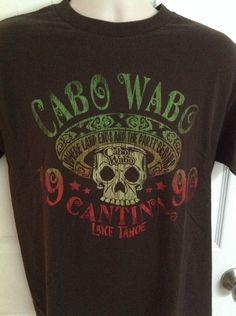 Cabo Wabo Cantina Lake Tahoe 1990 T Shirt Medium M Sammy Hagar Men's #AlstyleApparel #GraphicTee