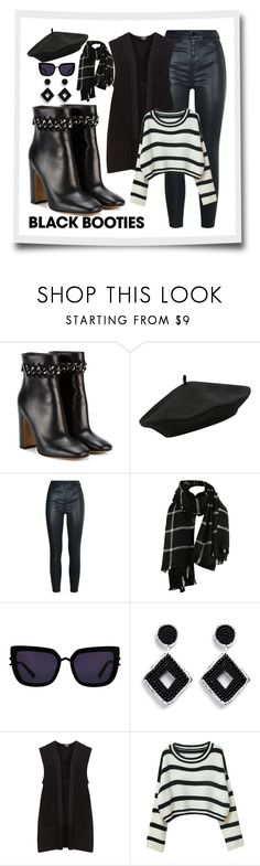 """Black Booties / lf1"" by leaff88 ❤ liked on Polyvore featuring Valentino, M&Co, Kendall + Kylie, Kenneth Jay Lane, Chicnova Fashion and blackbooties"