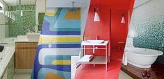 10 banheiros revestidos com pastilhas - Casa Vogue   Ambientes