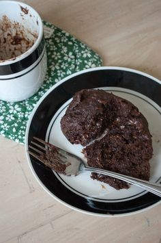 Low Fat Vegan Chocolate Mug Cake. I have the book. GREAT BOOK! I use the microwave only during emergencies - like craving something like this. Mug cakes are super easy but I've re hauled the recipe to avoid dairy & wheat with coconut & almond flour and flax seeds. It's better than this. But this is a super simple if you've never made a mug cake.
