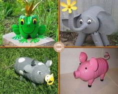 They might be different animals, but they have one thing in common. They're made from recycled PET bottles! on The Owner-Builder Network  http://theownerbuildernetwork.co/wp-content/blogs.dir/1/files/pet-bottle/aaaaiiiii-8.jpg
