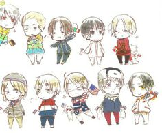 Winter Olympics Prussia Germany Italy Japan Canada France England America Russia China Axis and Allies Hetalia