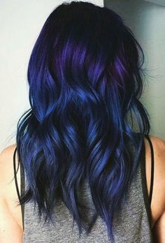 We've gathered our favorite ideas for Dark Blue Hair Color Ideas And Images, Explore our list of popular images of Dark Blue Hair Color Ideas And Images. Blue Purple Hair, Dark Blue Hair, Brown Ombre Hair, Ombre Hair Color, Cool Hair Color, Pastel Blue, Dark Purple, Blue Hair Balayage, Indigo Hair Color