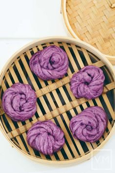 Vegan Steamed Purple Potato & Chia Buns Mantou