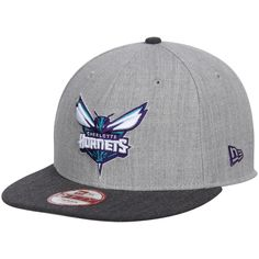 f10e52f2 Men's Charlotte Hornets New Era Heather Gray Action 2-Tone 9FIFTY  Adjustable Hat,