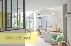 Una casa color pastello