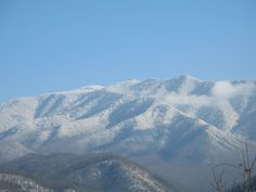 Snowy Smoky Mountains