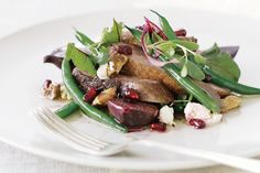 Make the most of seasonal fruit and vegetables in this warm gourmet duck salad.