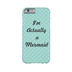 I'm Actually a Mermaid Aqua scales iPhone 6 case ($45) ❤ liked on Polyvore featuring accessories, tech accessories, phones and phone cases
