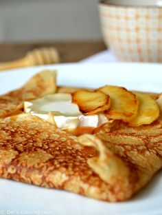 French Crepes with Goat Cheese and Salted Caramel Apples  (Holiday Brunch)