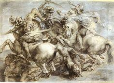 Rubens - copy of davinci's battle of anghiari, cool story behind the masterpiece