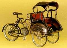becak, 3 cycles human transportation