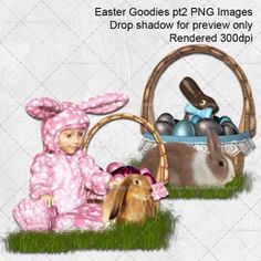 Free Easter PNG image resources for scrapping or card making projects