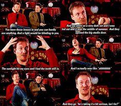 David Thewlis' reaction to being a werewolf.                                                                                                                                                                                 Más