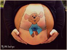Belly Painting Twins Body Art - Belly painting twins , bauchmalerei zwillinge , jumeaux de peinture du ve - Pregnancy Tattoo, Pregnancy Bump, Pregnancy Photos, Pregnancy Drawing, Pregnant Belly Painting, Pregnant Painted Belly, Bump Painting, Painting Flowers, Painting Art