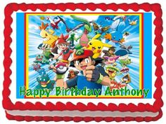 Pokemon Edible Frosting Sheet Cake Topper - 1/4 Sheet * Haven't you heard that you can find more discounts at this image link : Baking decorations