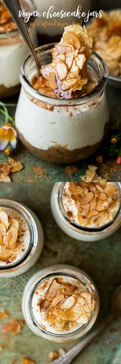 #dessert #dairyfree #treat #vegan #glutenfree #oilfree #refinedsugarfree #sugarfree #ginger #cheesecake #vegancheesecake #parfait