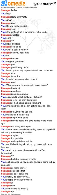 My first Pinterest worthy Omegle thing... I ran into my inspiration on Omegle, it was the DJ BerZox from Youtube. I am done with life... it is complete now!!!