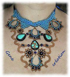 Image - Le plastron de Shéhérazade - Créations en perles de Gene - Skyrock.com