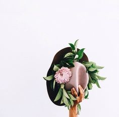flower crown on a hat? YES PLEASE.