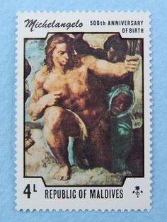 Maldives 4L Stamp  Michelangelo
