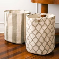 Pehr Canvas Basket-Taupe  For a carry to the car storage solution - donations/beach stuff/dry cleaning - I want three of them!
