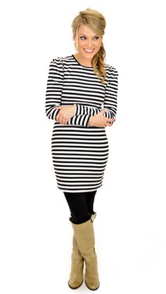 Classic stripes on a fitted silhouette...LOVE! $39 at shopbluedoor.com