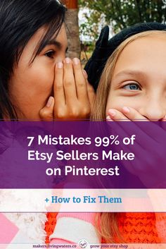 Pinterest is the best social media platform for Etsy shops. Read on to make sure you don't make these 7 mistakes most Etsy sellers make on Pinterest.