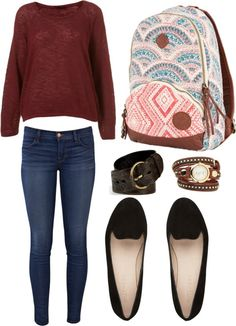 """""""School Outfit #1"""" by beacastromauri on Polyvore"""