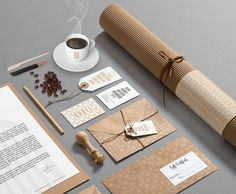 Babel BookStore Cafe – Identity Design The stationery set.
