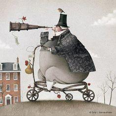 Hermosa ilustración de Iban Barrenetxea