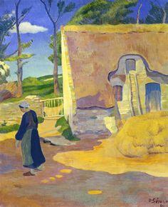 Paul Sérusier Farmhouse at Le Pouldu 1890 oil on canvas × 60 cm National Gallery of Art, Washington DC Paul Gauguin, Oil On Canvas, Canvas Art, Georges Seurat, Impressionist Artists, National Gallery Of Art, Vintage Wall Art, French Artists, Les Oeuvres