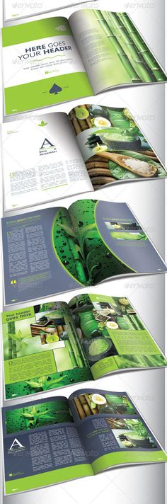 I like how green is incorporated into the magazine with the pictures.
