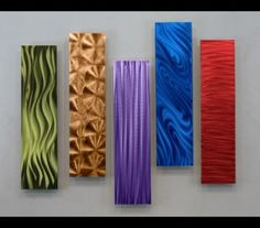 5 Easy Pieces Multi-Colored Home Wall Decor by Jon Allen