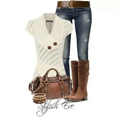 """Like the whole outfit! Although with maybe a less """"fussy"""" sweater"""
