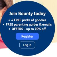 If you join Bounty today you will receive four free packs of baby goodies, free parenting emails and guides, as well as offers where you can get up to 70% off.