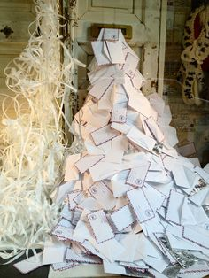 New York Anthropologie store window !!! Letters to Santa would make a great idea with Red Envelopes and fake stamps