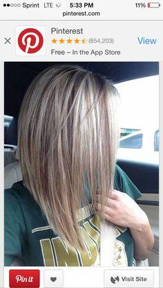 Verführerische umgekehrte Bob Frisur Ideen Lange A-Linie Haarschnitt, Bob Frisuren Medium Hair Styles, Short Hair Styles, Inverted Bob Hairstyles, Short Haircuts, Curly Hairstyles, Evening Hairstyles, Layered Hairstyles, Hairstyles Haircuts, Trendy Hairstyles