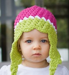 tons of ideas! CROCHET PATTERN Everything's Rosie (Includes 6 Sizes: Newborn to Adult ) Permission to sell all finished items Sombrero A Crochet, Crochet Baby Hats, Crochet Beanie, Cute Crochet, Crochet For Kids, Crochet Crafts, Crochet Yarn, Crochet Stitches, Crochet Projects
