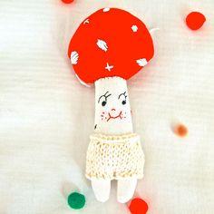 Hand embroidered rag doll ♥JessQuinnSmallArt